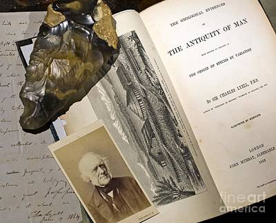 Charles Lyell Photograph - Charles Lyells Antiquity Of Man 1863 by Paul D Stewart