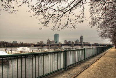 Winter Scenes Photograph - Charles River Charlesgate Yacht Club by Joann Vitali