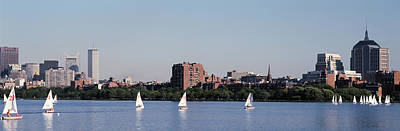 Charles River Skyline Boston Ma Print by Panoramic Images