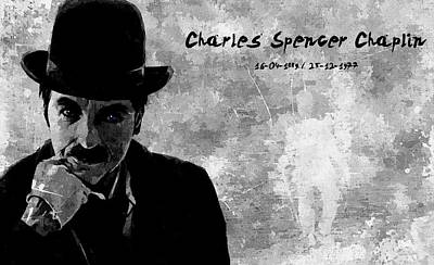 Charles Spencer Chaplin Print by Florian Rodarte