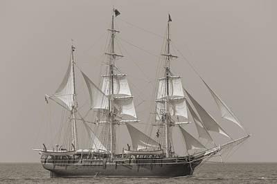 Charles W Morgan 38th Voyage Provincetown 2014 Sepia Original by Dapixara Art