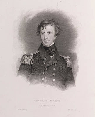 Charles Wilkes Print by British Library