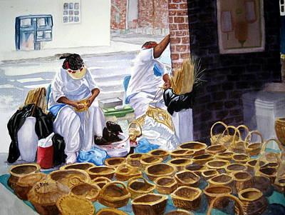 Charleston Basket Weavers Print by Julia Rietz