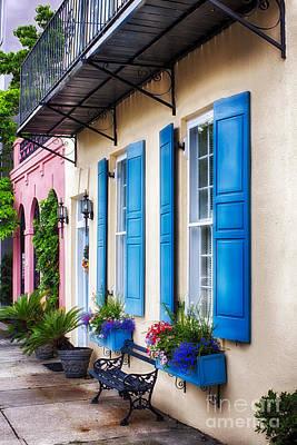 Window Bench Photograph - Charleston Impression I by George Oze