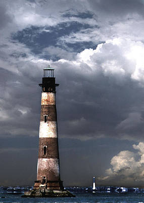 Beautiful Lighthouses Photograph - Charleston Lights by Skip Willits