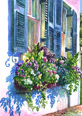 Charleston Houses Painting - Charleston Nosegay by Alice Grimsley