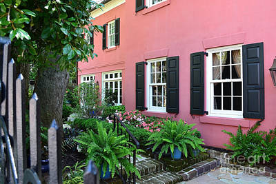 Charleston Photograph - Charleston Pink House by Amy Lucid