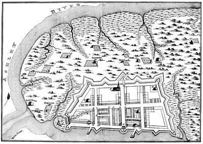 Charleston: Plan, 1704 Print by Granger