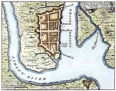 1732 Photograph - Charleston, Sc, 1732 by Granger
