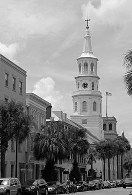 Charleston Series In Black And White Print by Suzanne Gaff