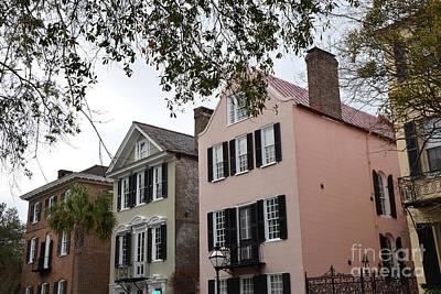 Charleston Houses Photograph - Charleston South Carolina Rainbow Row Historic Homes District by Kathy Fornal