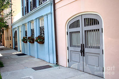 Charleston South Carolina - Rainbow Row - Historical District Architecture Print by Kathy Fornal