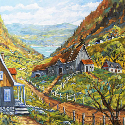 Quebec Painting - Charlevoix Valley By Prankearts by Richard T Pranke