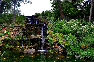 Indiana Photograph - Charley Creek Garden Waterfall by Amy Lucid