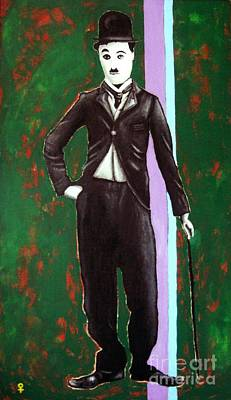 Portrait Painting - Charlie Chaplin by Venus