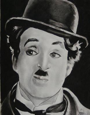 Charlie Chaplin Print by Aaron Balderas