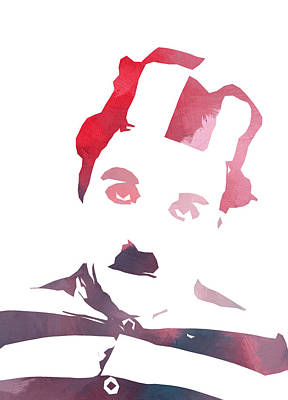 Impresionism Painting - Charlie Chaplin Color by Steve K