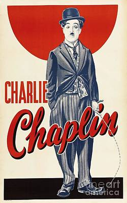 Charlie  Chaplin Print by Pg Reproductions