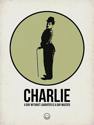 Classic Film Star Mixed Media - Charlie Poster 1 by Naxart Studio