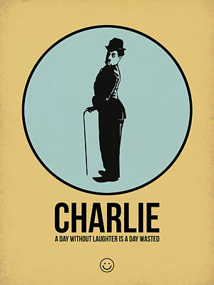 Classic Film Star Mixed Media - Charlie Poster 2 by Naxart Studio