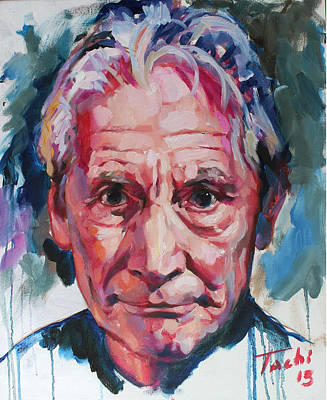 Portraits Painting - Charlie Watts by Tachi Pintor