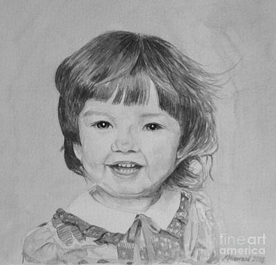 Innocence Painting - Charlotte B/w by Martin Howard