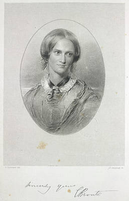Charlotte Bronte Print by British Library
