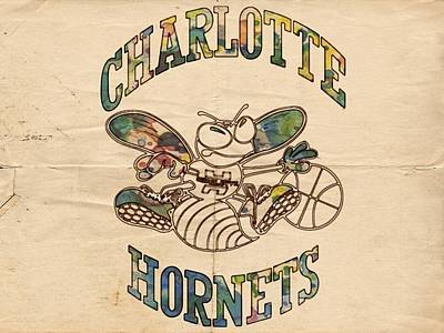 Charlotte Hornets Poster Art Print by Florian Rodarte
