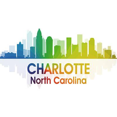 Charlotte Mixed Media - Charlotte Nc 1 Squared by Angelina Vick