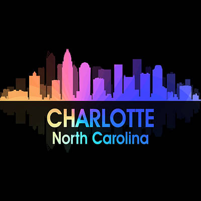 Charlotte Mixed Media - Charlotte Nc 5 Squared by Angelina Vick
