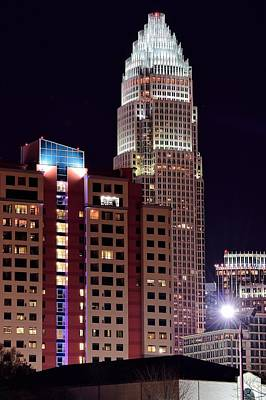 Charlotte Skyscraper Print by Frozen in Time Fine Art Photography