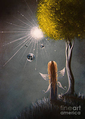 Dreams Painting - Little Fairy Art By Shawna Erback by Shawna Erback