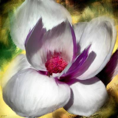 Language Digital Art - Charming Bloom by Lourry Legarde