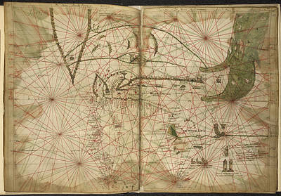 Arabia Photograph - Chart Of Red Sea And Arabia by British Library