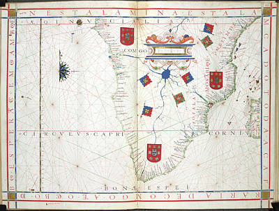 Senegal Photograph - Chart Of Southern Africa by British Library
