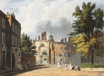 Charter House From The Square Print by William Westall