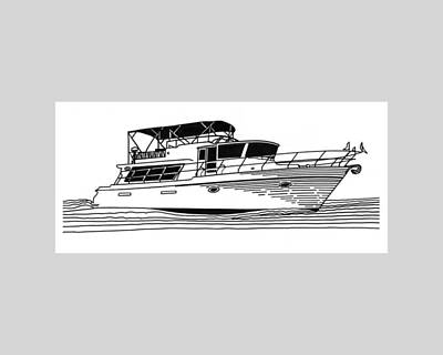 Watersports Drawing - Charter Yacht by Jack Pumphrey