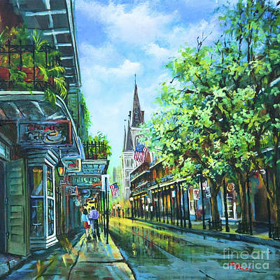 Chartres Afternoon Print by Dianne Parks