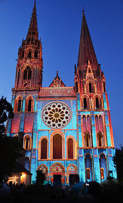 Lumiere Photograph - Chartres Cathedral With Colors by RicardMN Photography