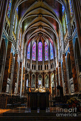 Altar Photograph - Chartres by Olivier Le Queinec