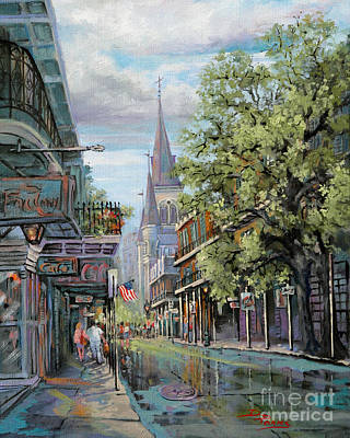 Louisiana Art Painting - Chartres Rain by Dianne Parks
