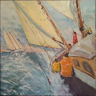 Painting - Chase On Port Side by Brent Moody