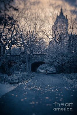 Chased Through Central Park Print by Edward Fielding