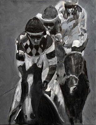 Belmont Stakes Painting - Chasing Diamonds by Denise Boineau