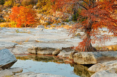Chasing The Light At Pedernales Falls State Park Hill Country Print by Silvio Ligutti