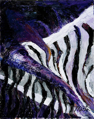 Abstract Zebra Painting - Chasmatic I by Larry Martin
