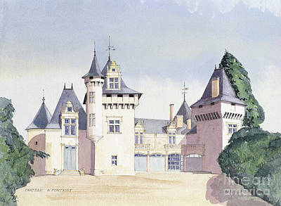 Chateau A Fontaine Print by David Herbert
