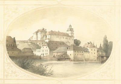 Czech Republic Digital Art - Chateau Brandys Nad Labem by Jenny Rainbow