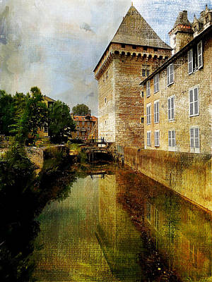 Chateau Mixed Media - Chateau French Countryside by Elaine Frink