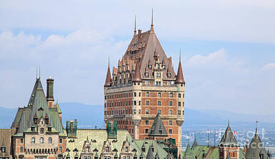 Chateau Frontenac Quebec City Canada Print by Edward Fielding